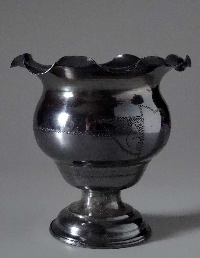 Antique Silver Small Urn Cigarette Holder Vase