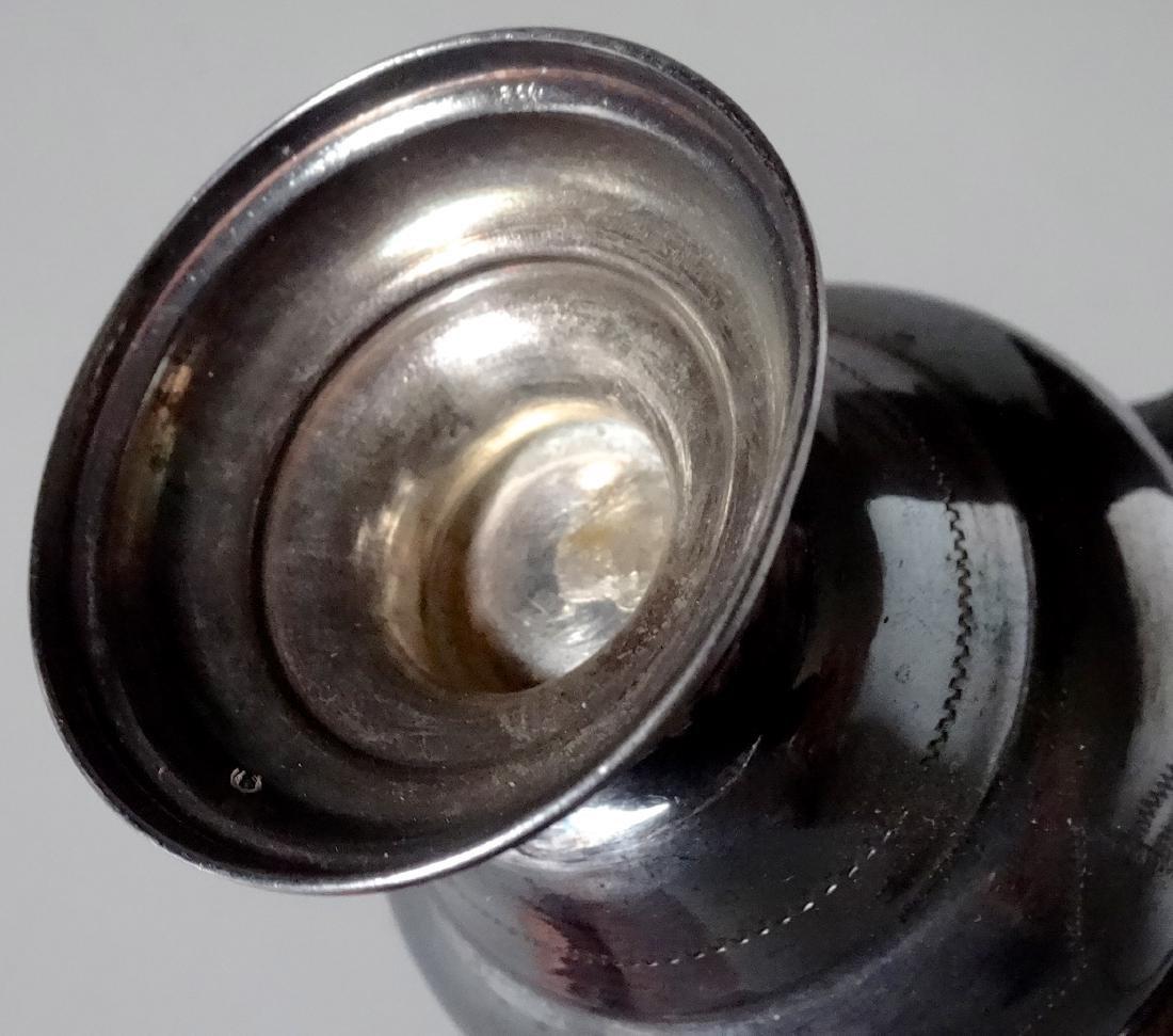 Antique Silver Small Urn Cigarette Holder Vase - 5