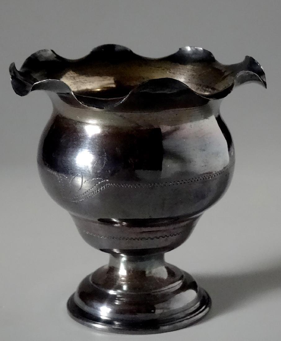 Antique Silver Small Urn Cigarette Holder Vase - 8