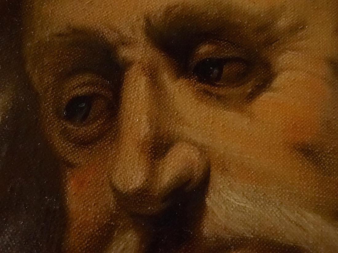 Bearded Biblical Man Old Master Style Oil On Canvas - 3