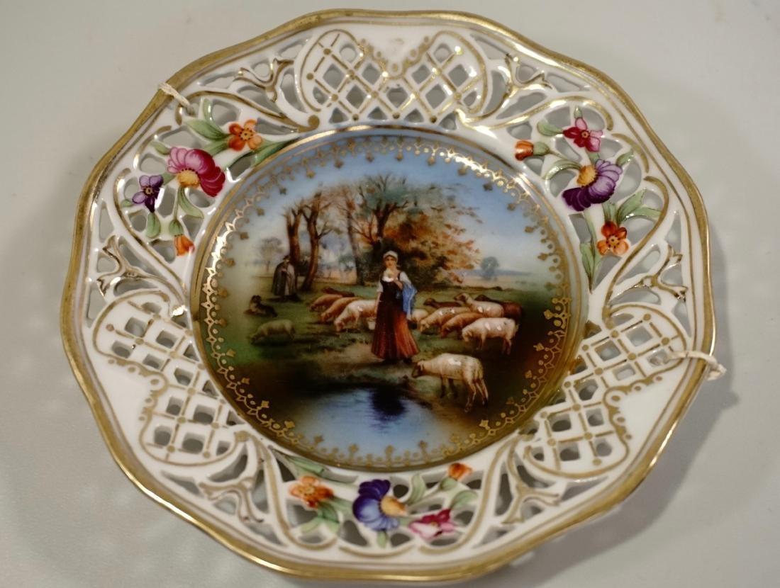 Vintage Dollhouse Size Miniature Plate German Bavaria