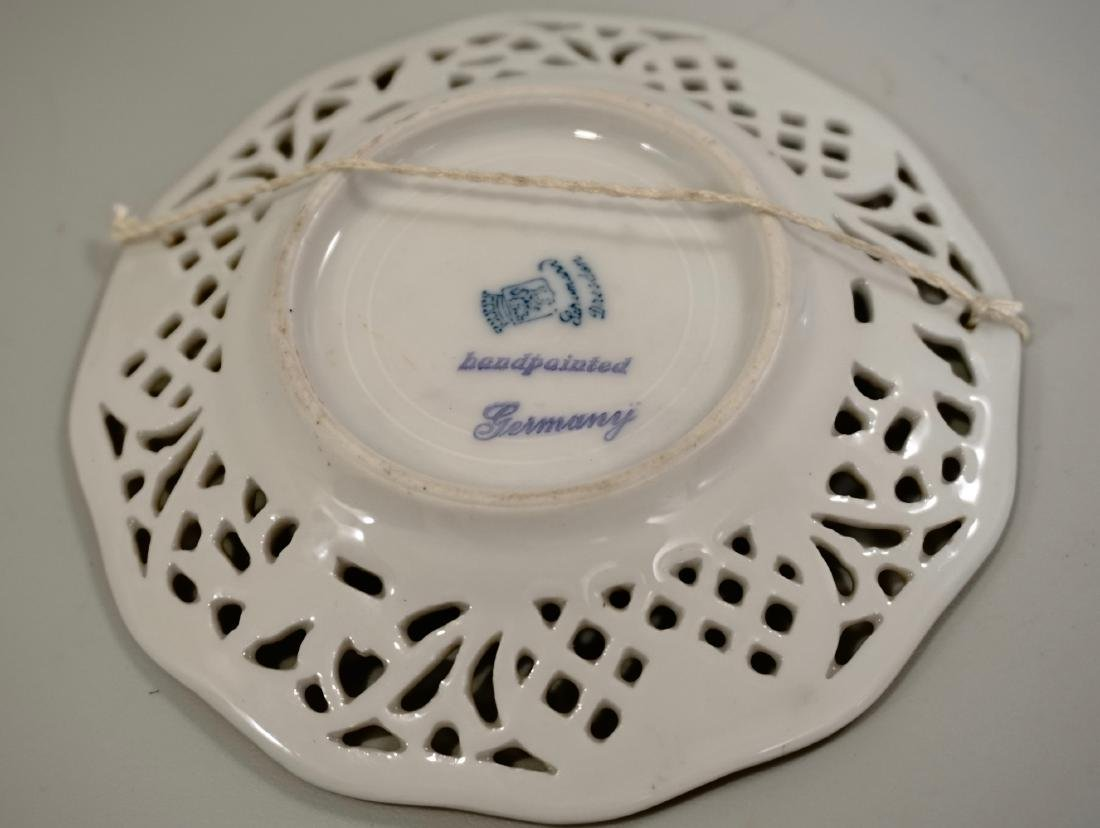 Vintage Dollhouse Size Miniature Plate German Bavaria - 3