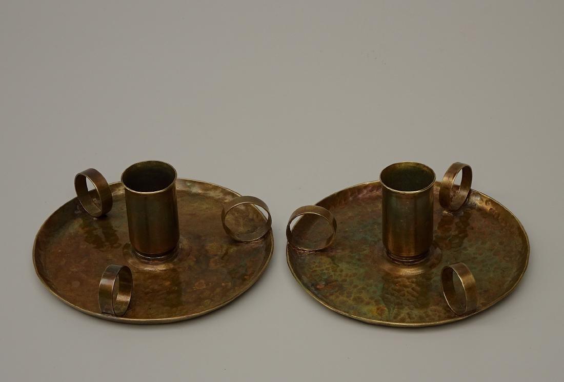 American Art Craft Period Candleholders Chambersticks
