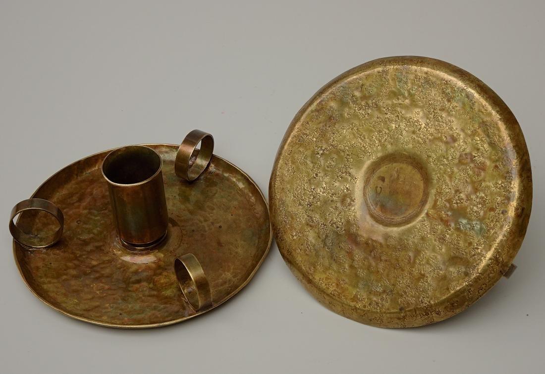 American Art Craft Period Candleholders Chambersticks - 3