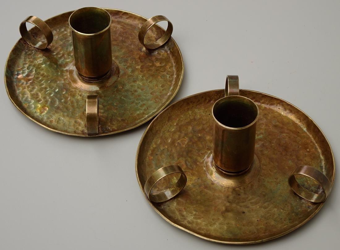 American Art Craft Period Candleholders Chambersticks - 5