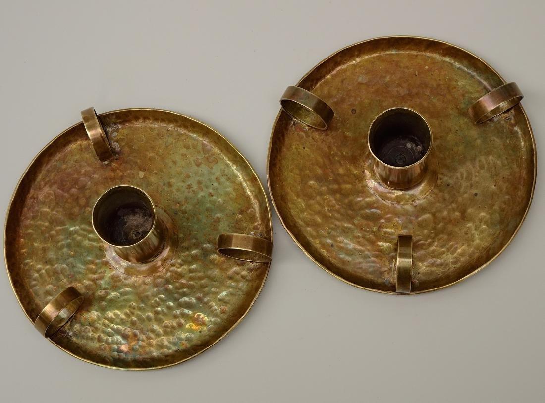 American Art Craft Period Candleholders Chambersticks - 6
