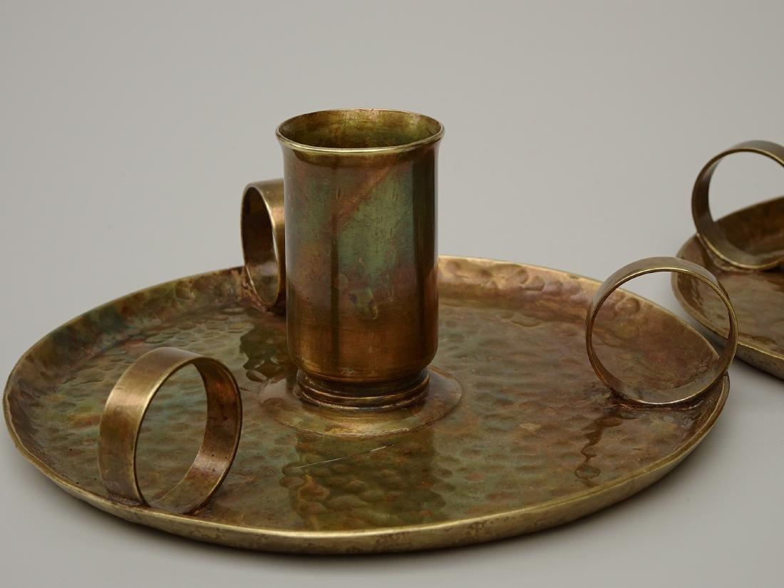 American Art Craft Period Candleholders Chambersticks - 7