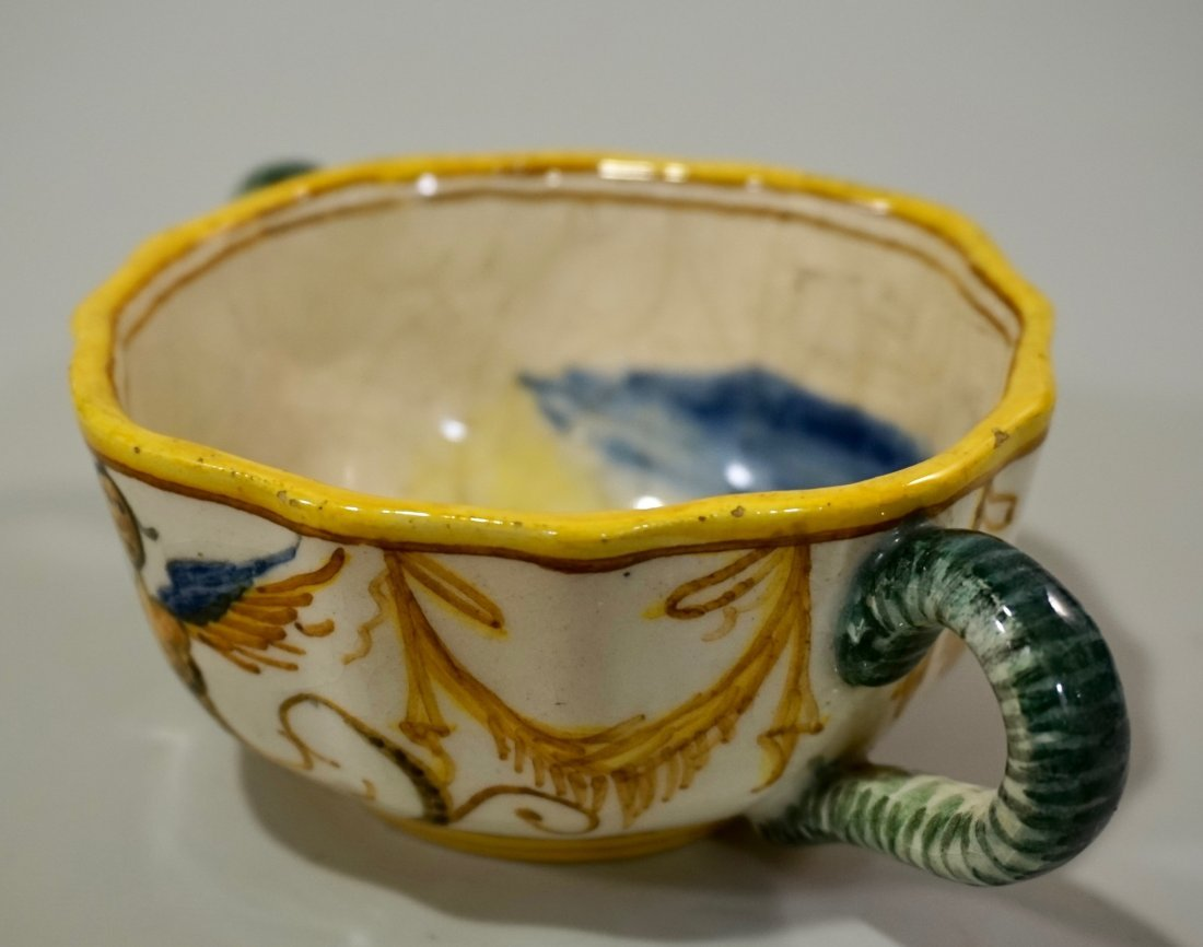 Antique Italian Majolica Cup - 3