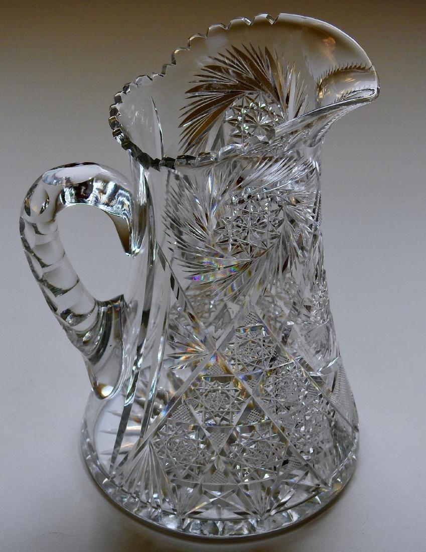 Antique American Brilliant Cut Glass Large Heavy Lead