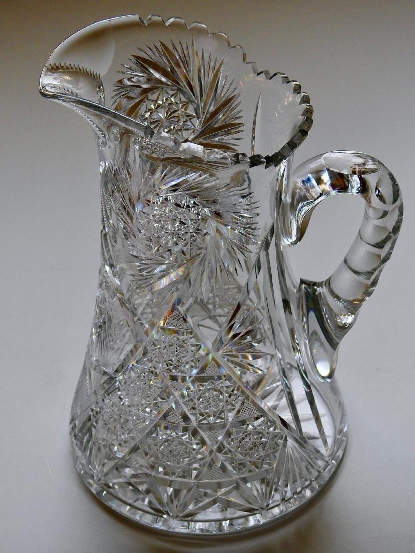 Antique American Brilliant Cut Glass Large Heavy Lead - 2