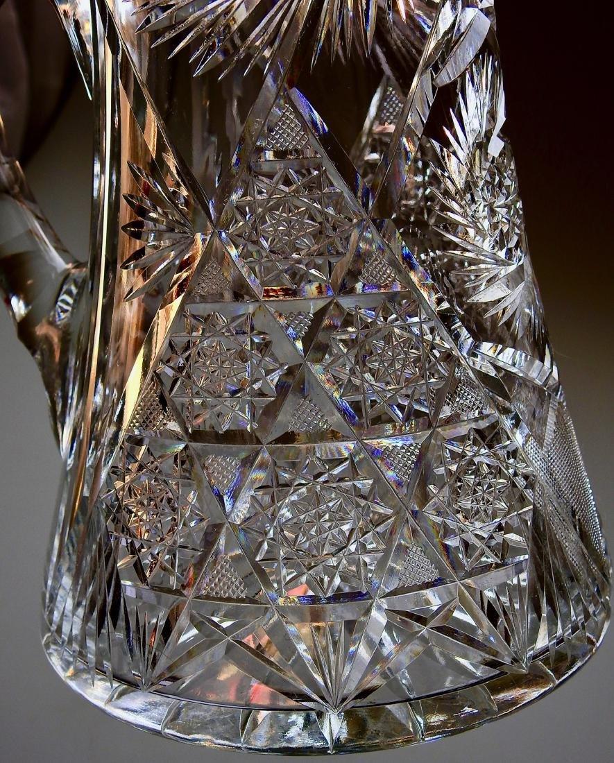 Antique American Brilliant Cut Glass Large Heavy Lead - 4