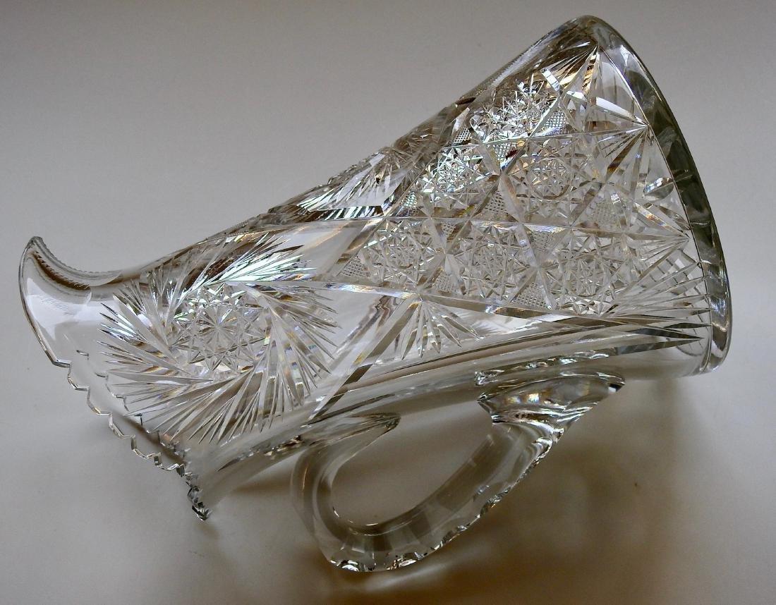 Antique American Brilliant Cut Glass Large Heavy Lead - 7