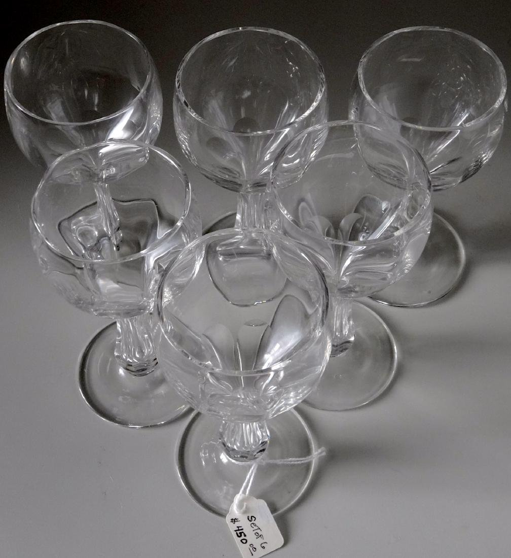 Vintage Panel Cut Hollow Stem Crystal Champagne Wine - 2