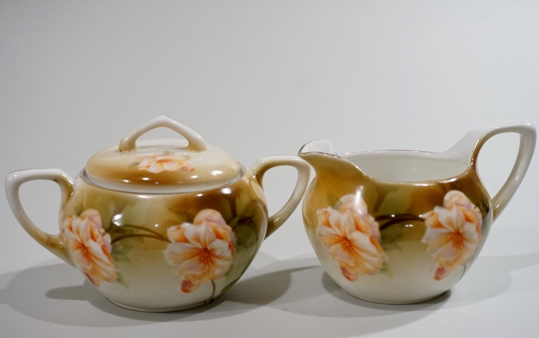 RS Germany Creamer Sugar Antique Porcelain Set Reinhold