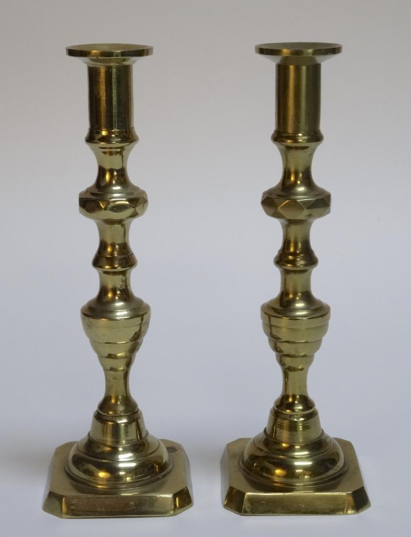 Vintage English Brass Candlesticks