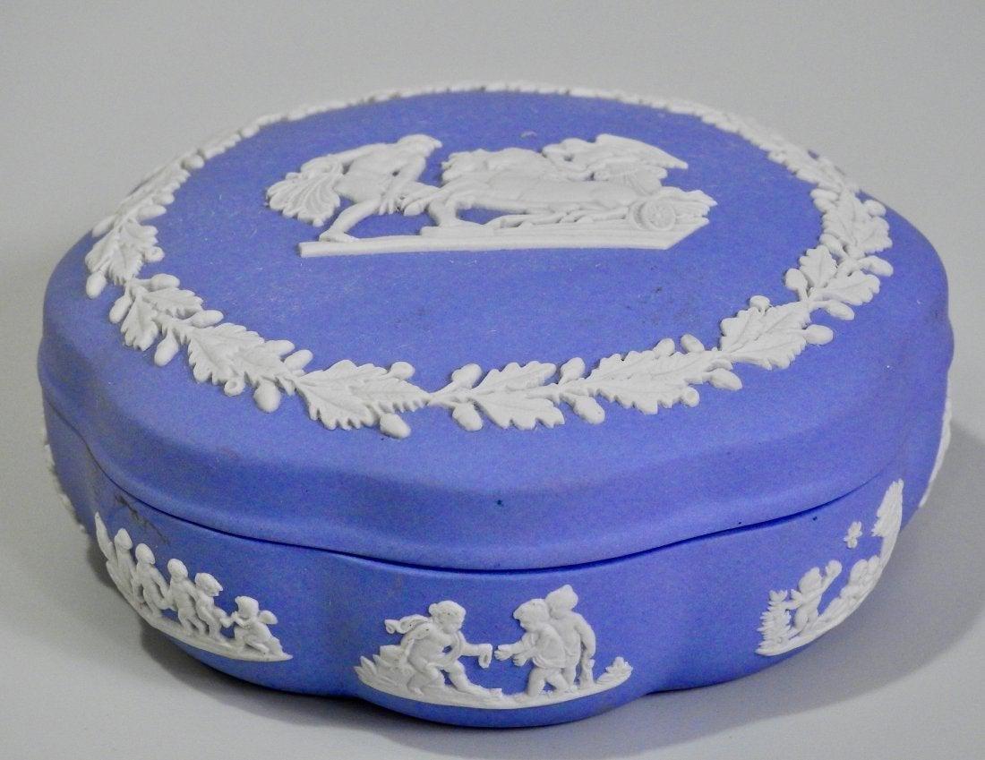 Wedgwood Blue Jasper Porcelain Box