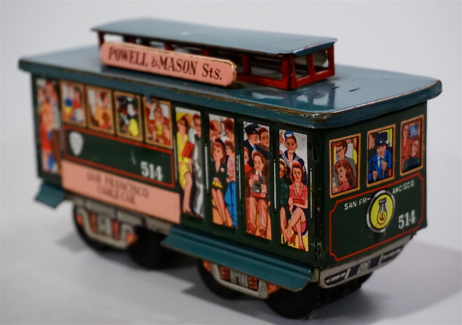San Francisco Cable Car Friction Tin Toy Bell