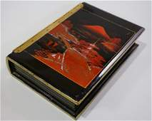 Vintage Japanese Music Jewelry Box Black Lacquer Hand