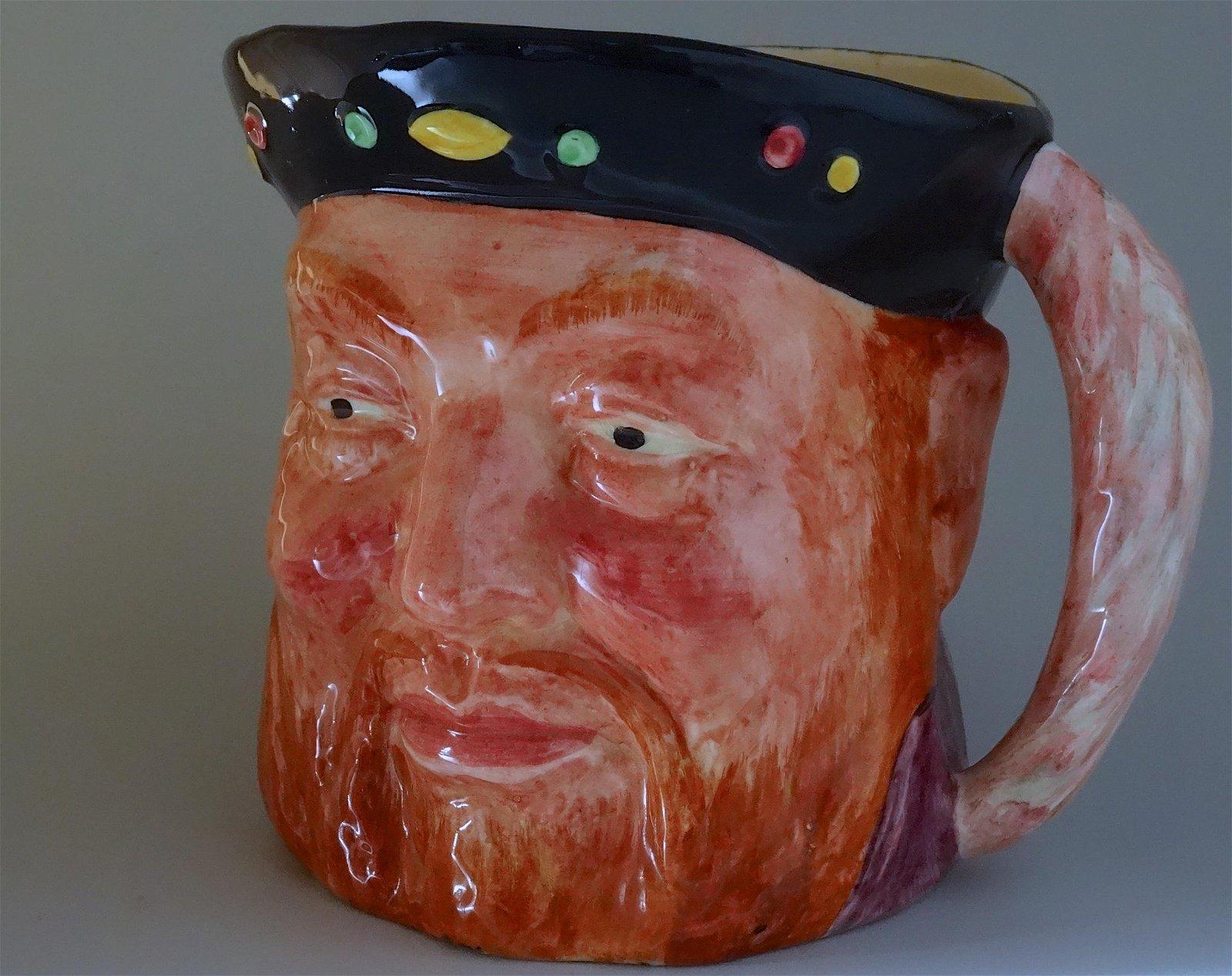 Henry VIII Bluff King English Character Toby Jug Mug