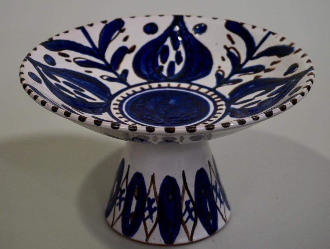 Studio Pottery Ceramic Tazza Artist Signed