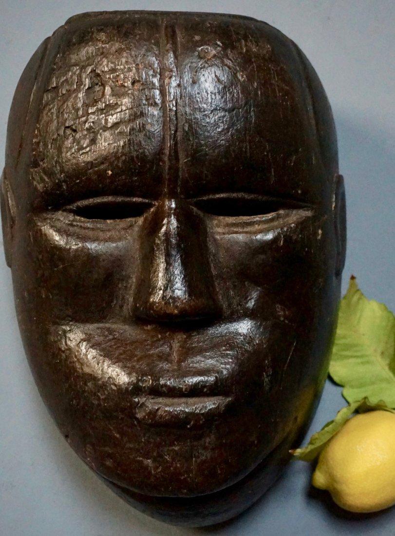 Vintage Carved Wood Head African Mask