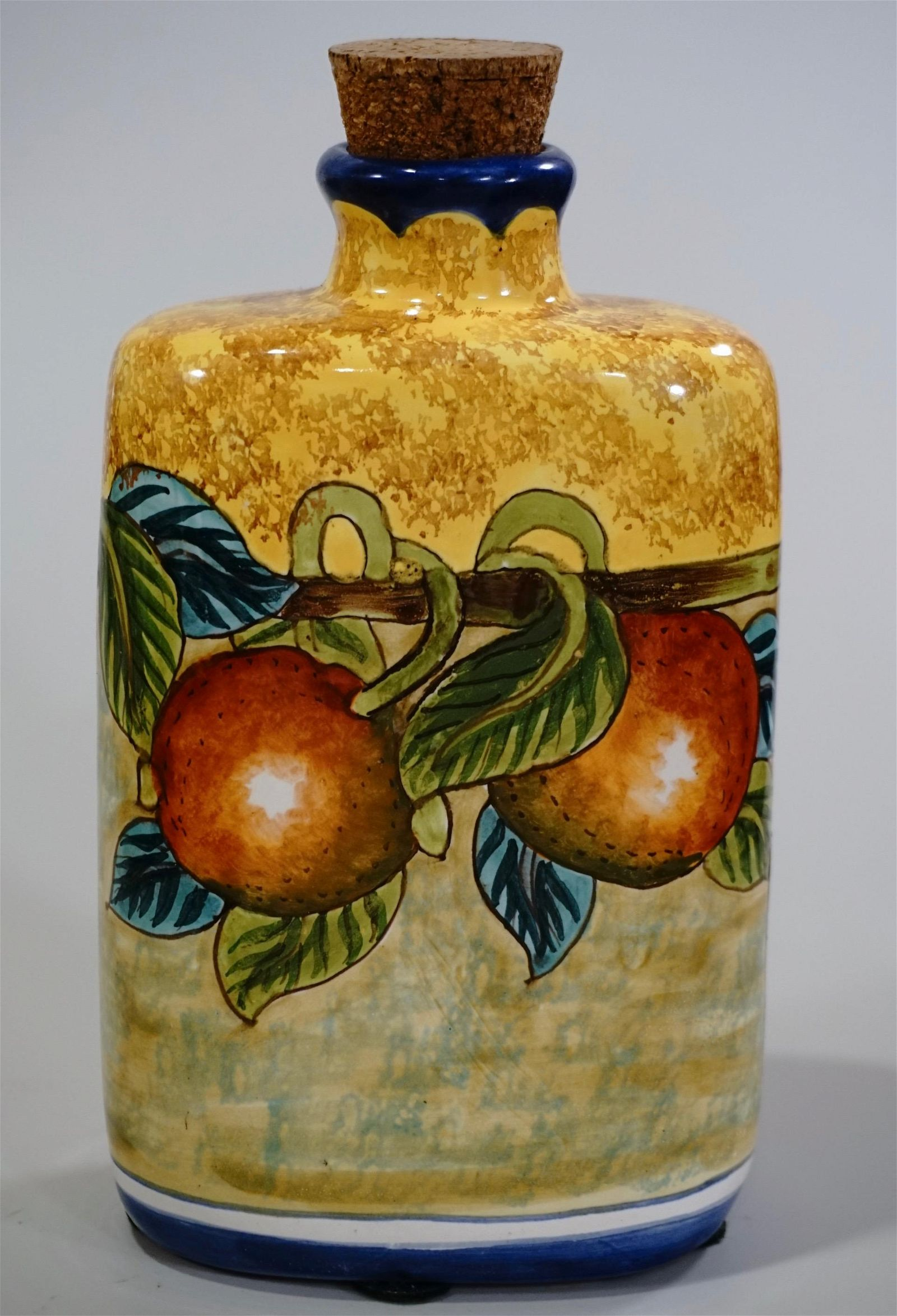 Hand Painted Italian Ceramic Flask