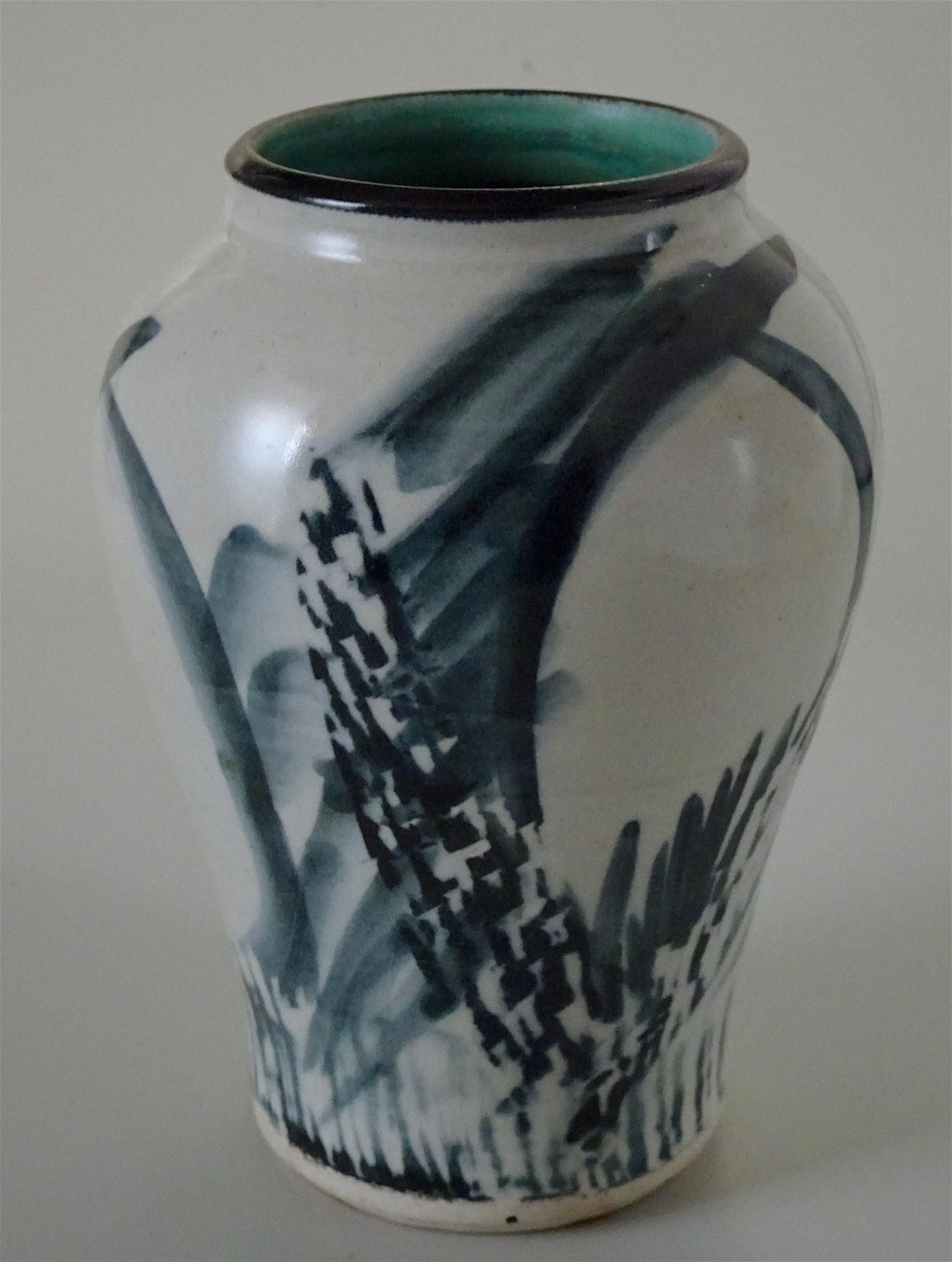 Vintage Mid Century Abstract Studio Pottery Signed Vase