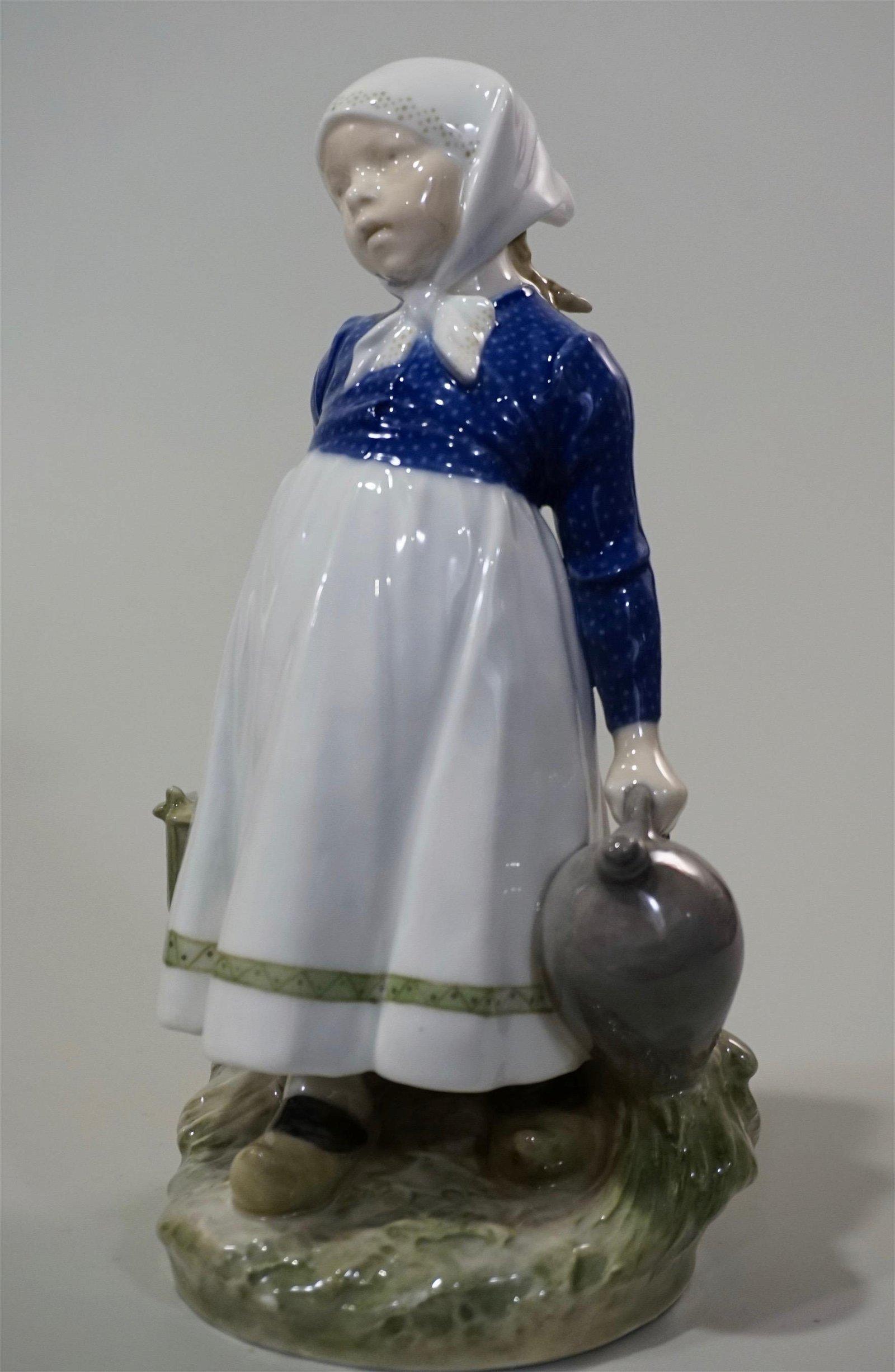 Royal Copenhagen Porcelain Girl C.Thomsen Figurine