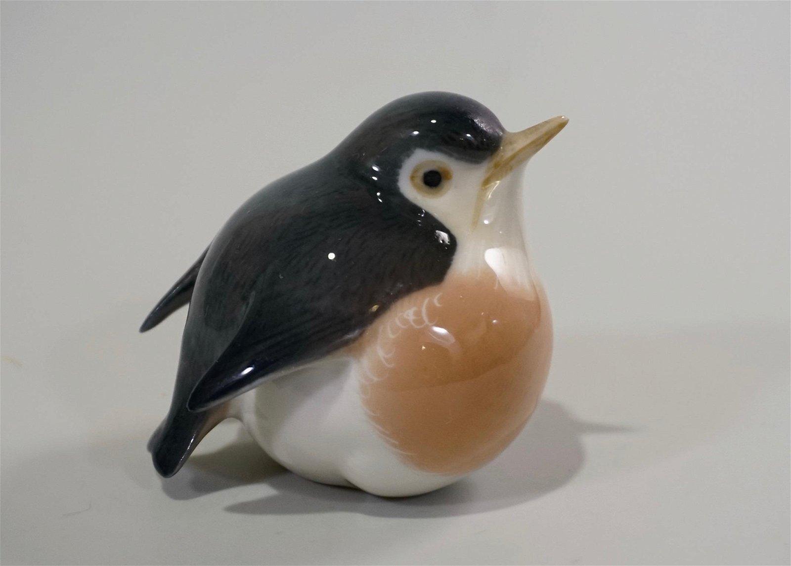 Royal Copenhagen Robin Denmark Porcelain Figurine by