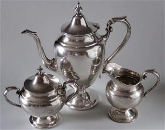 Vintage Gorham Puritan Sterling Silver Coffee Pot Sugar