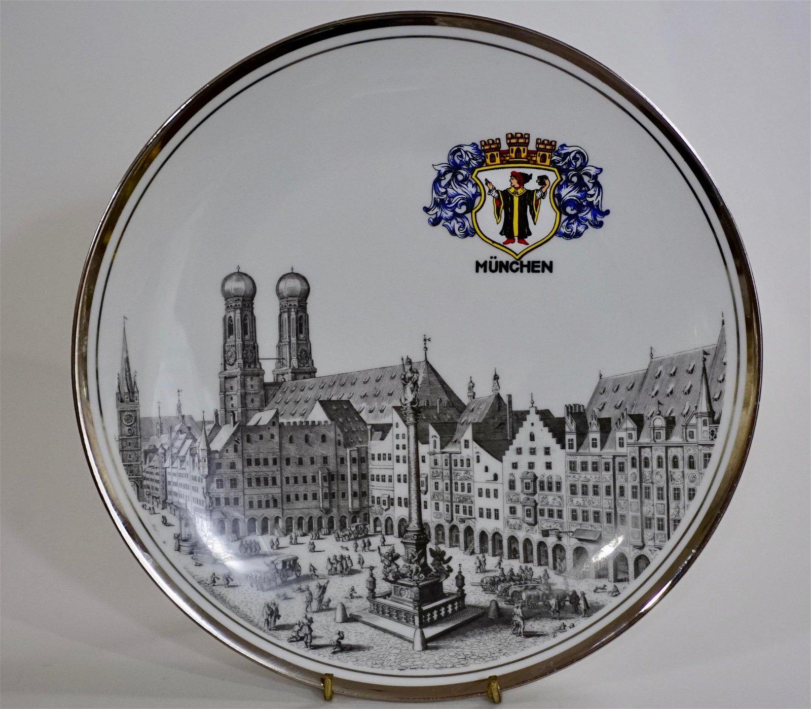 Munchen Architectural Porcelain Plate Munich Germany