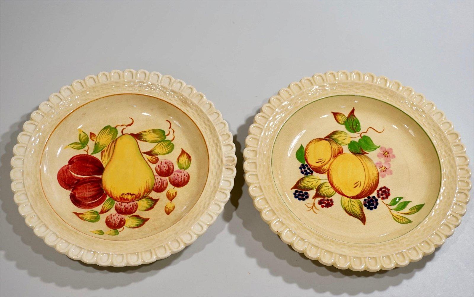 Adams Royal Ivory Titian Ware Fruit Plate Lot of 2