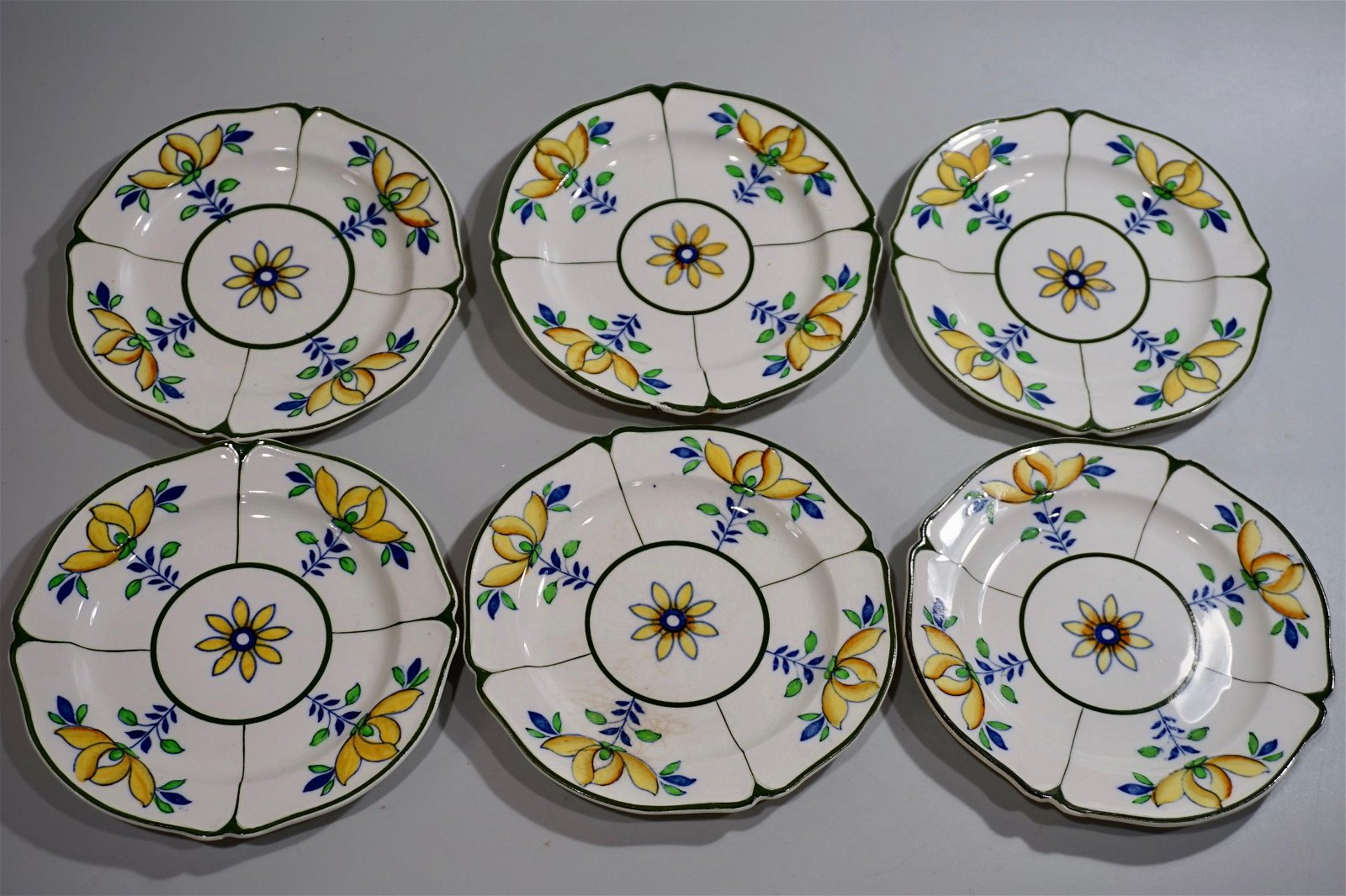 Woods and Son China Small Plate Saucer Lot of 6 Antique