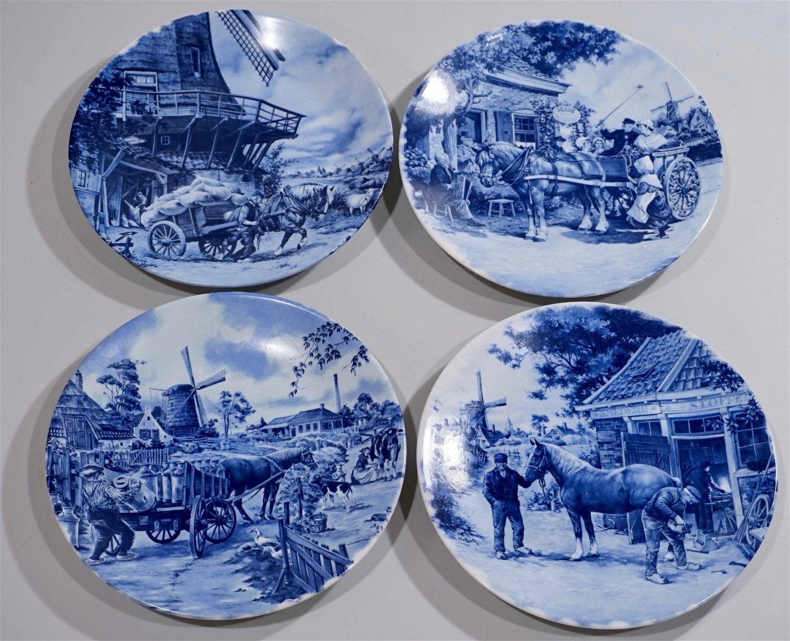 Hollands Delfts Blauw Tos Horse Theme Equestrian Plate