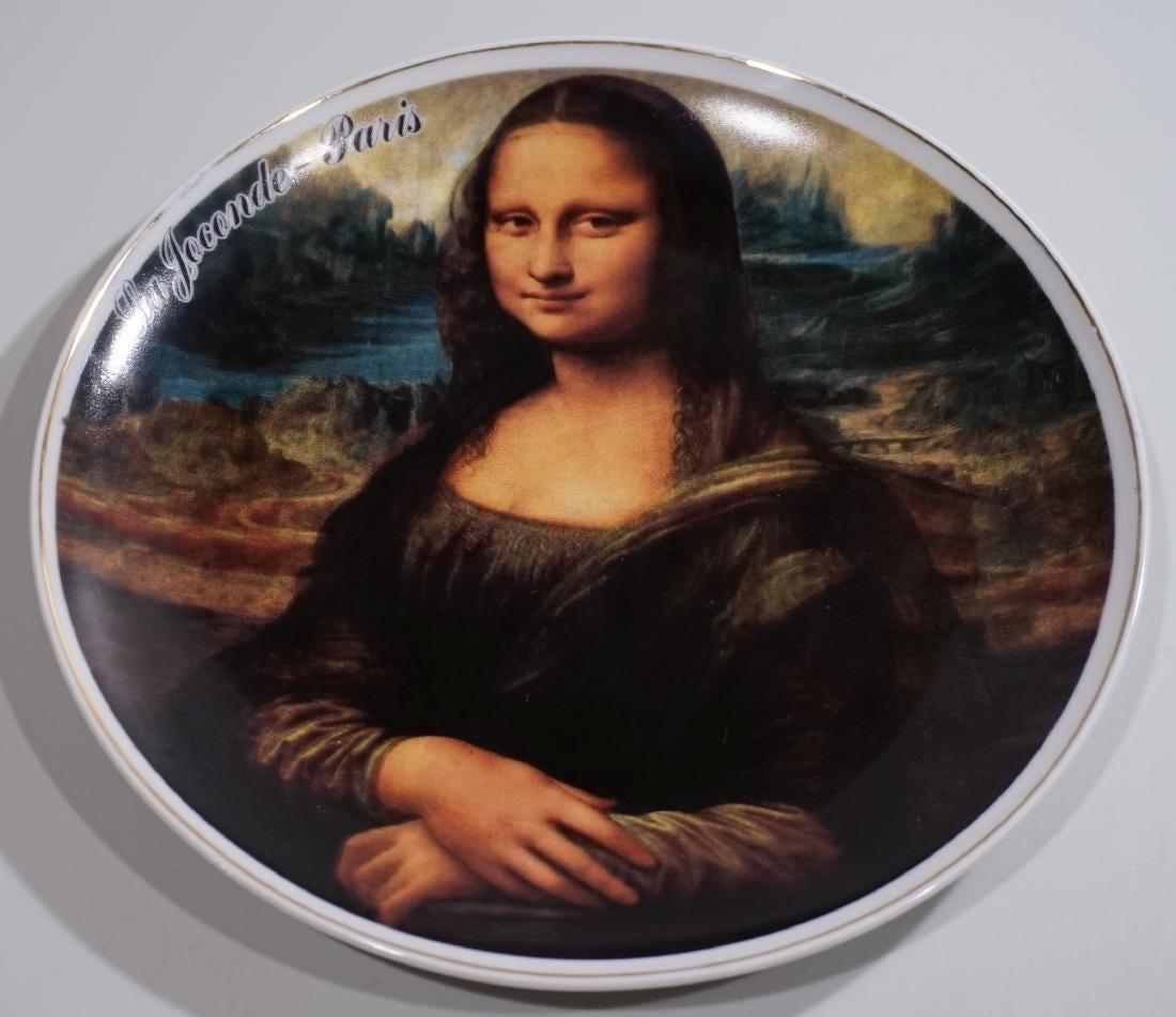 Monna Lisa Parisian French Souvenir Plate