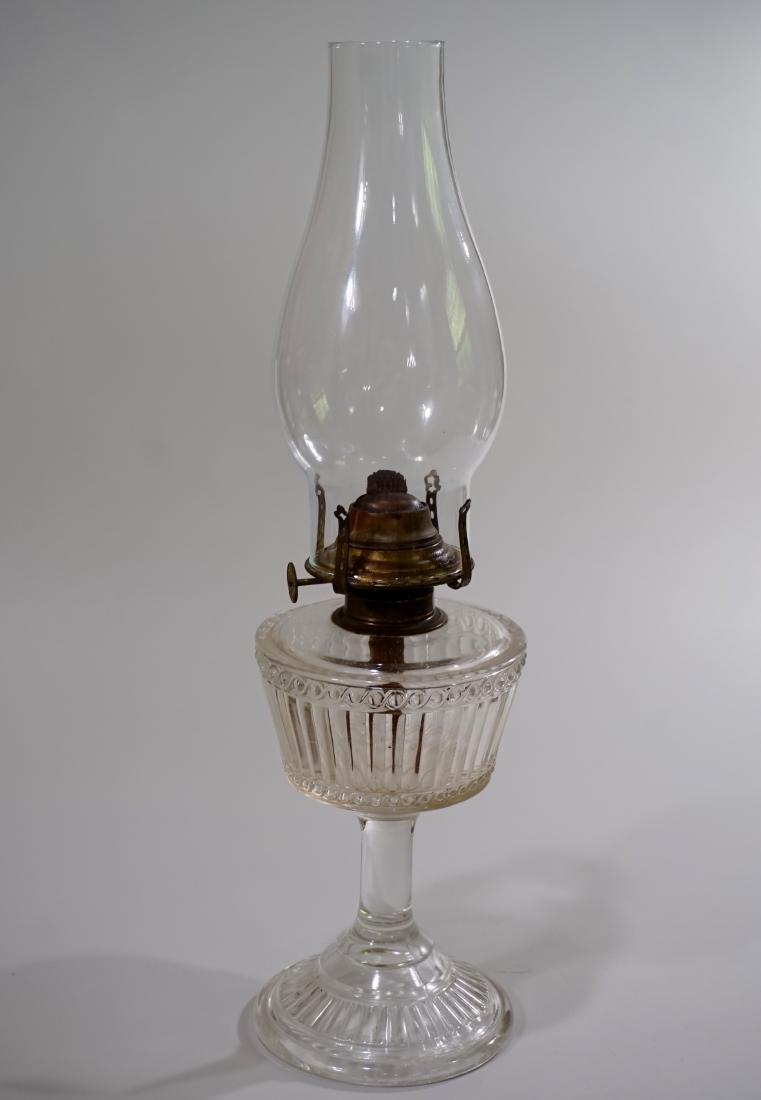 Antique American Kerosene Lamp EAPG Period Pressed