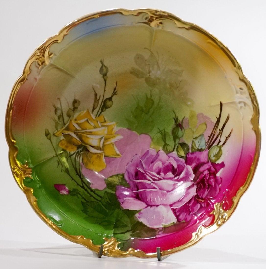 Antique Porcelain Bowl Roses