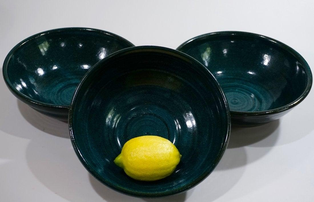 Turquoise Blue Glaze Bowl California Studio Pottery