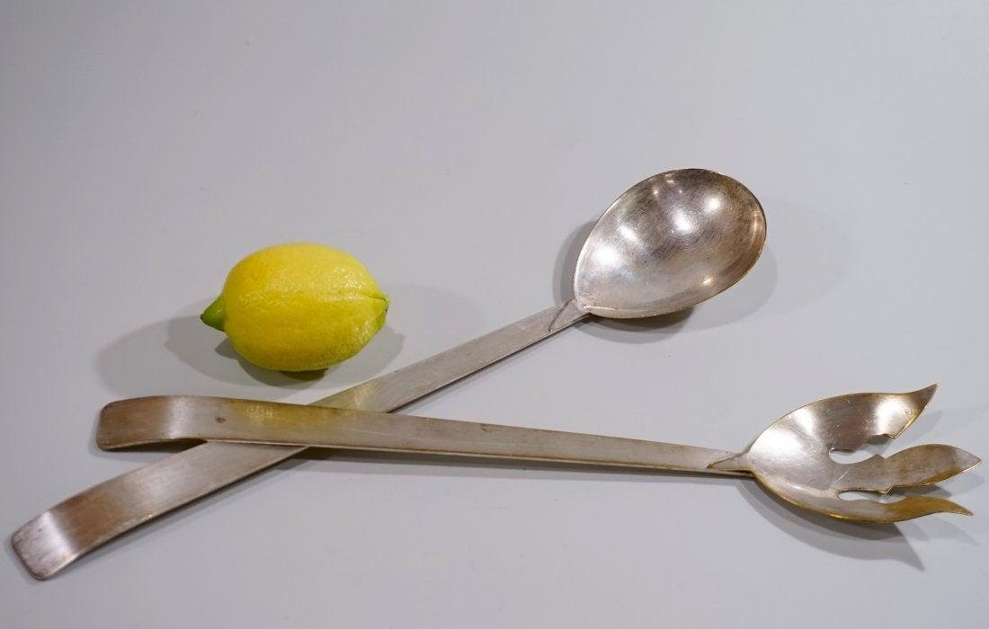 Mid Century Three Crowns Silver Plated Salad Spoon Fork