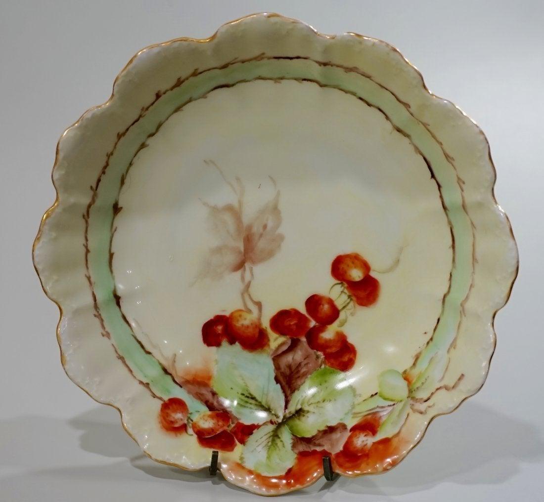 Malmaison Bavaria Strawberry Fruit Bowl Antique German