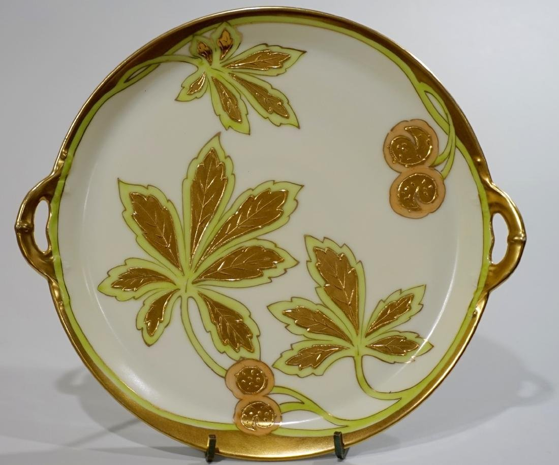 Art Deco Period Chestnut Gold Painted Serving Cake