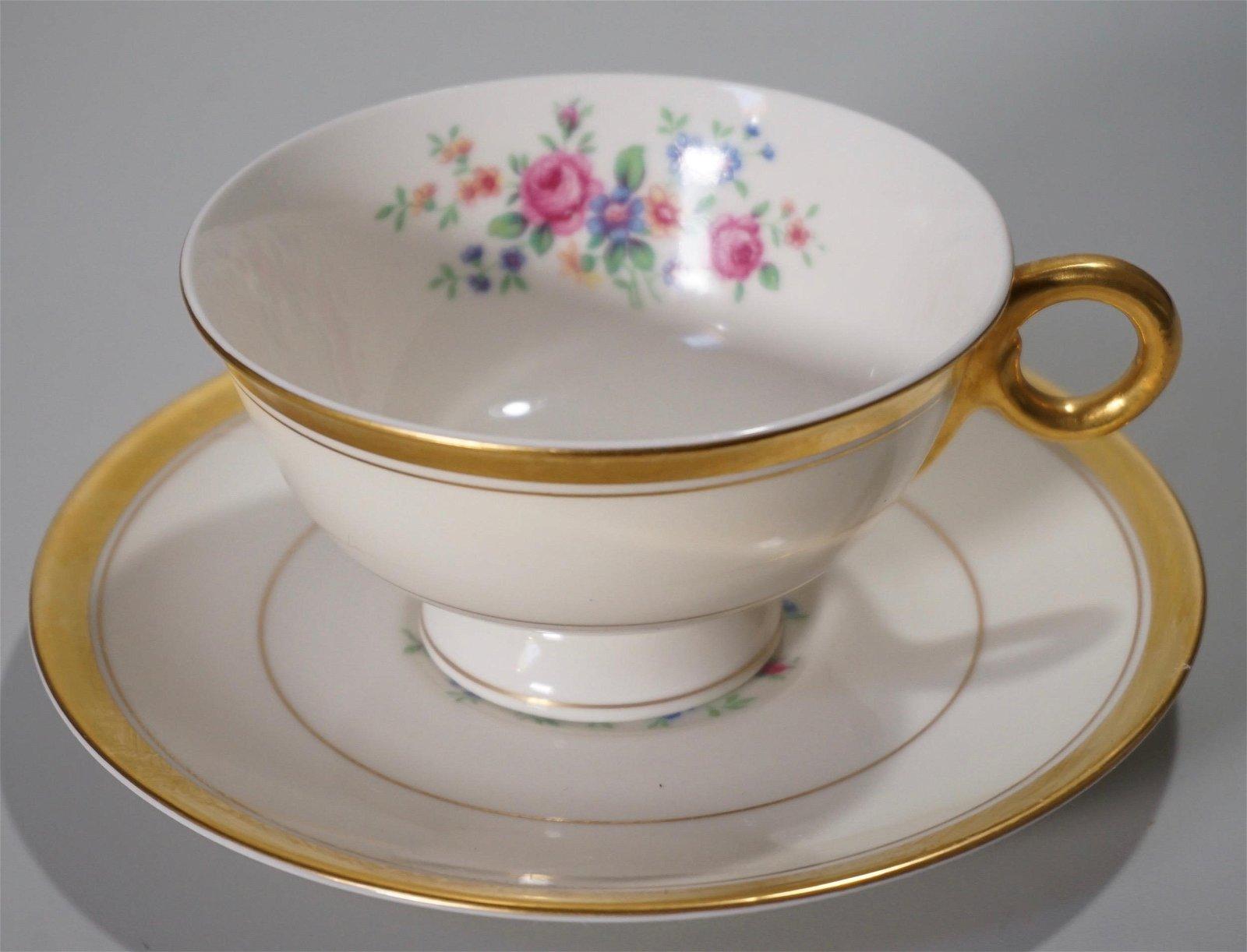 Theodore Haviland Teacup Saucer Set Vintage China