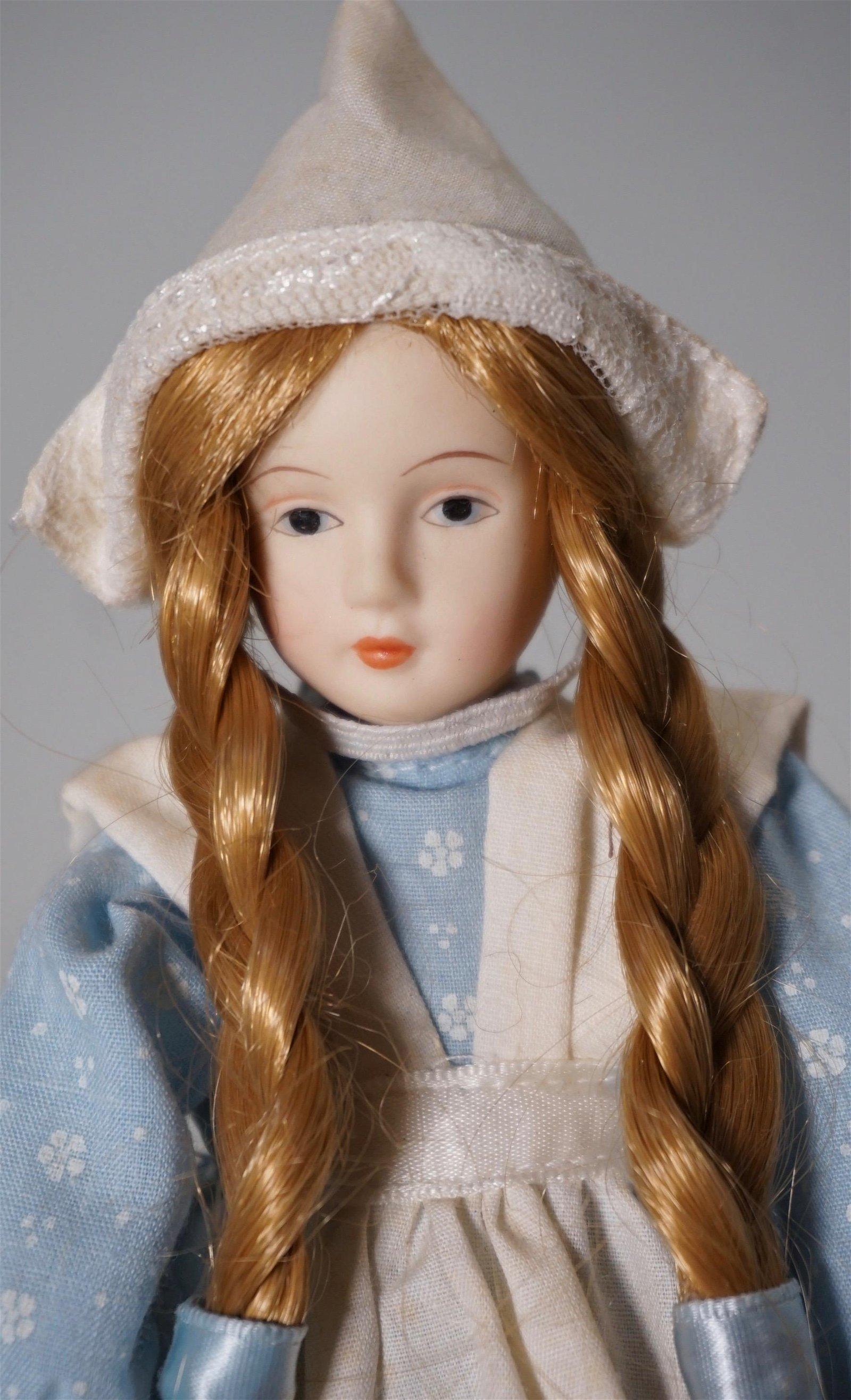 Vintage Porcelain Bonnet Doll