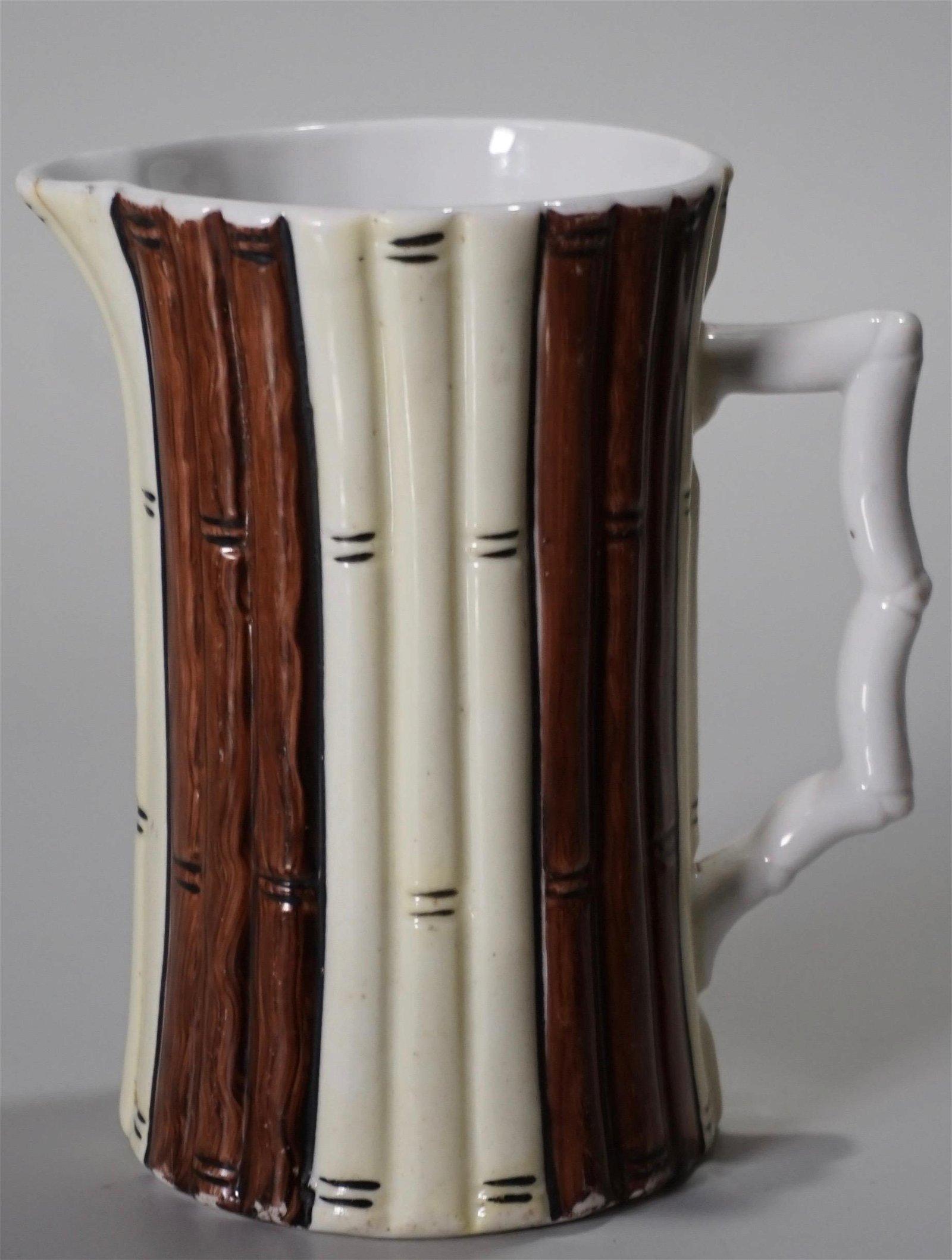 Vintage Porcelain Jug Willow Branch Figural Pitcher