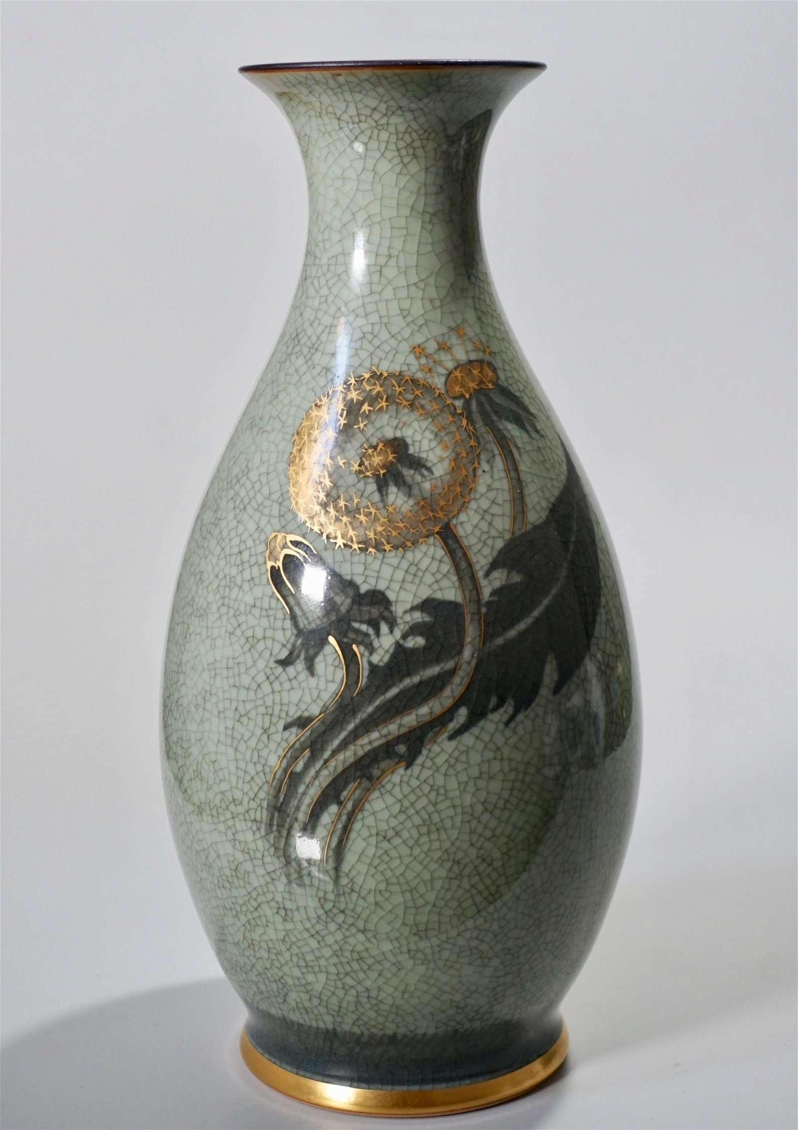 Knud Andersen Royal Copenhagen Celadon Dandelion Vase