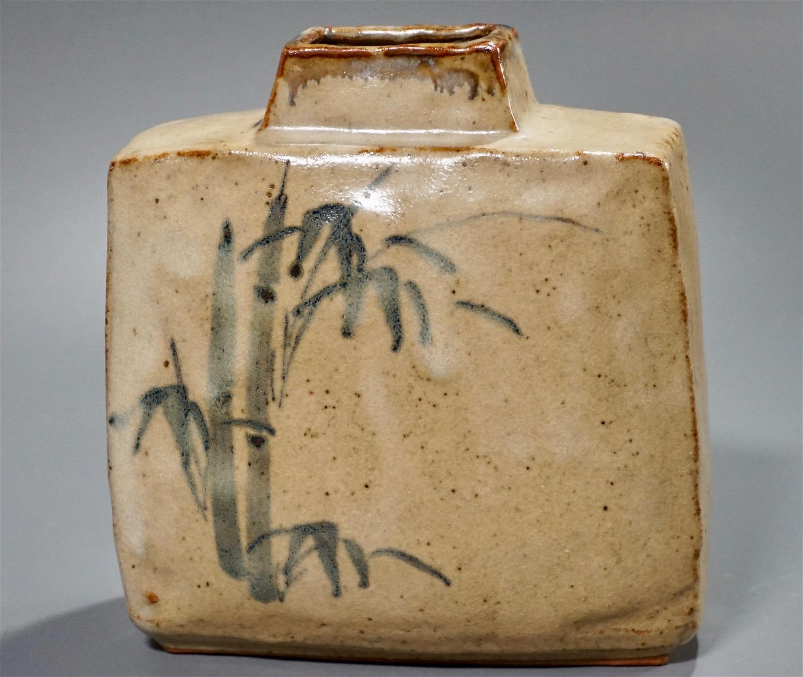 Vintage Japaneese Pottery Bamboo Vase