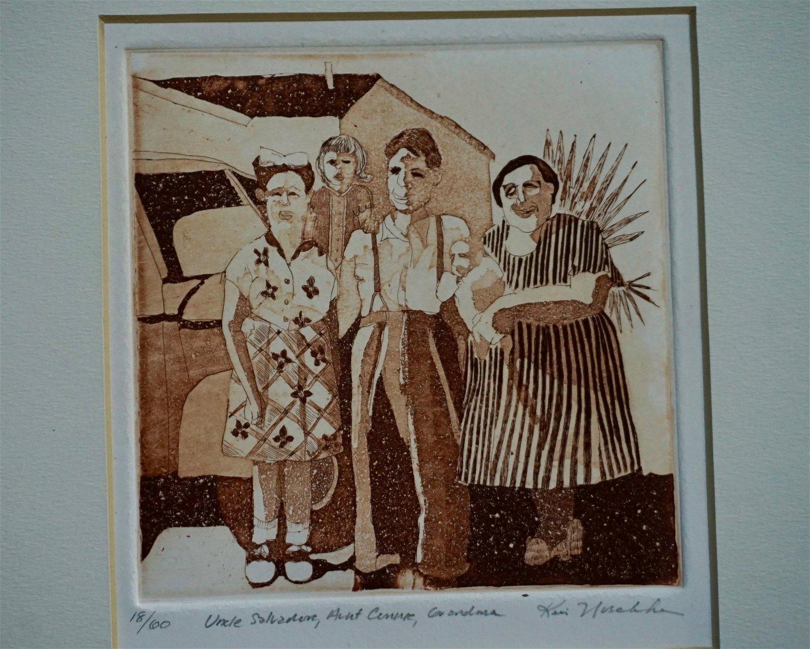 Family Portrait Etching Engraving Kristina Nuschke