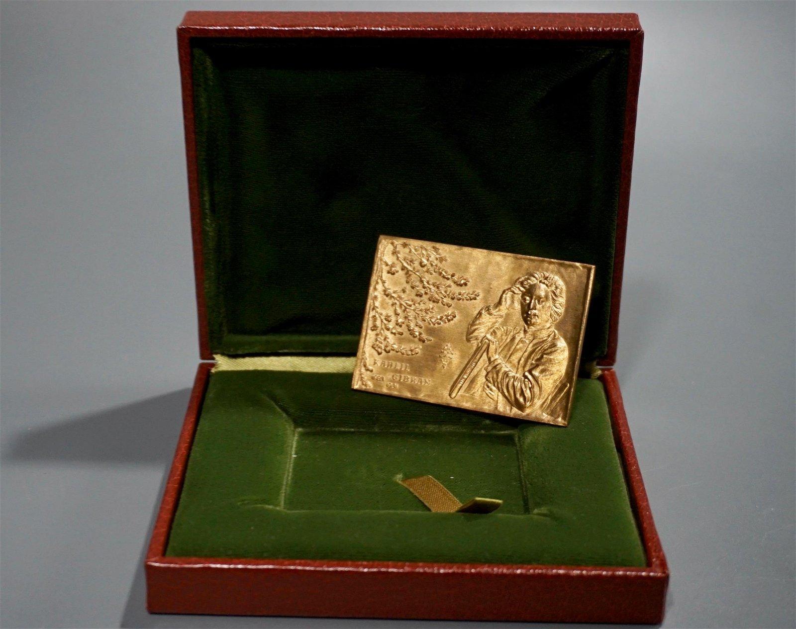 Khalil Gibran The Prophet Bronze Plaque Original