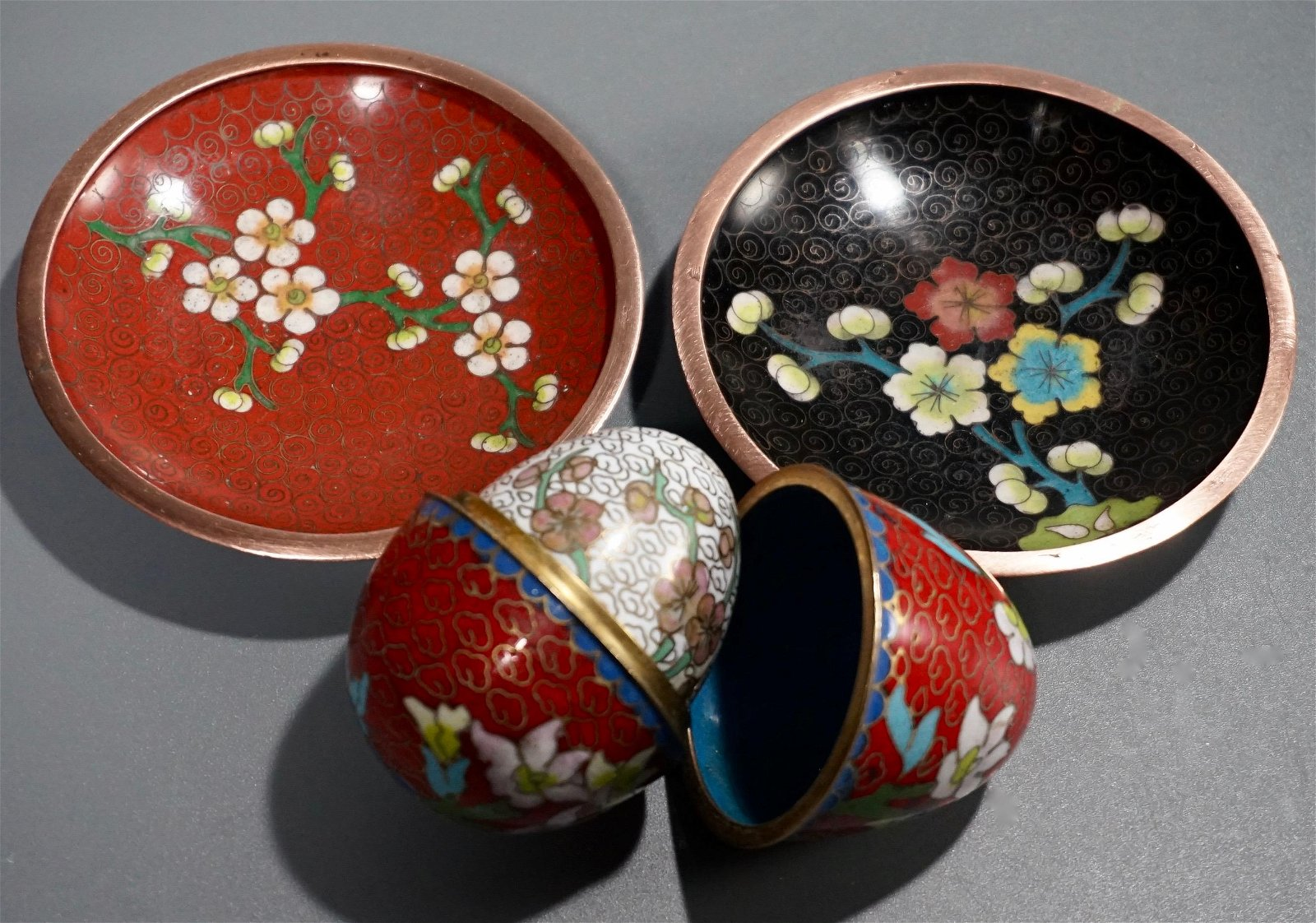 Chinese Cloisonne Lot of 4