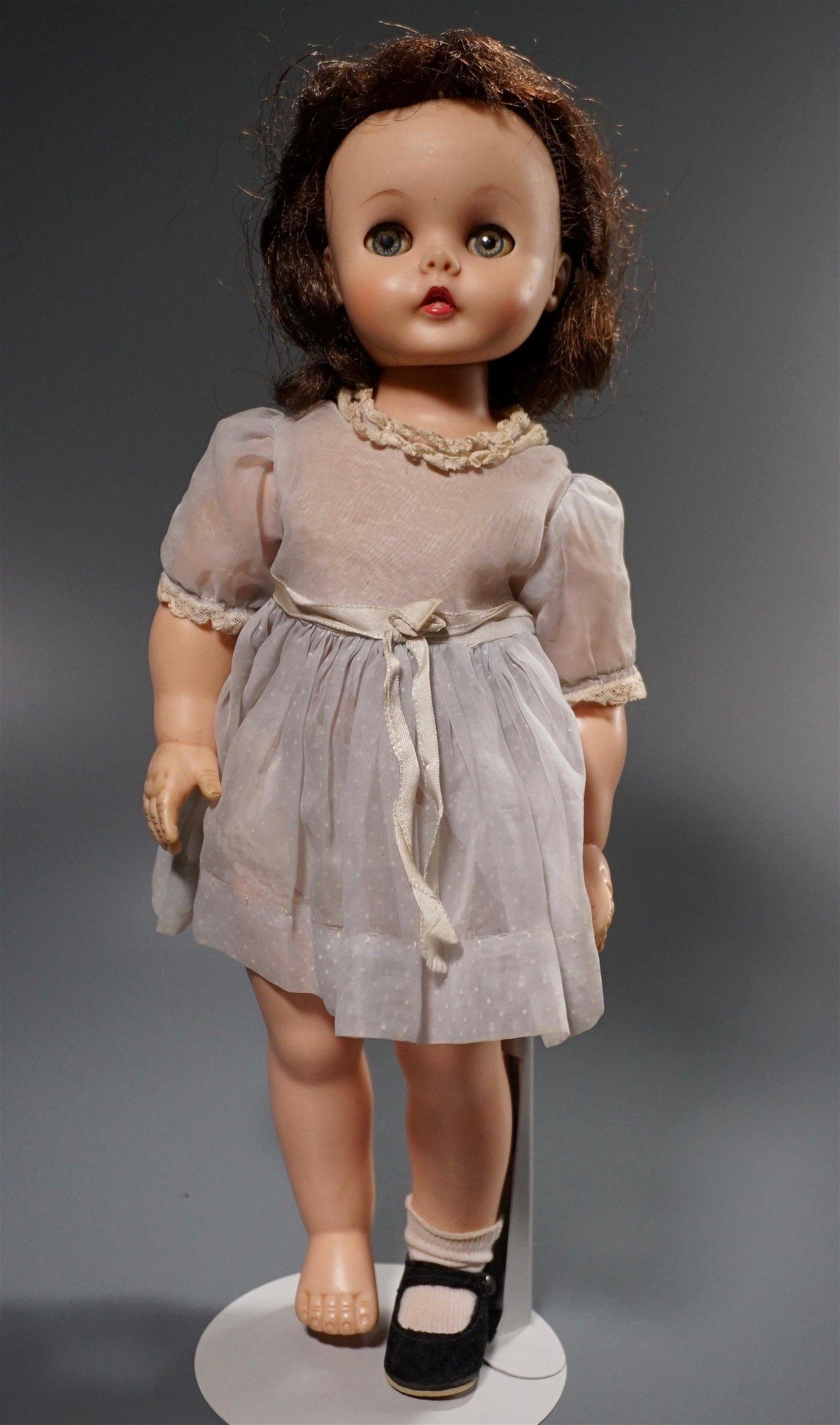 Vintage Alexander Kelly Doll Original Dress on Display